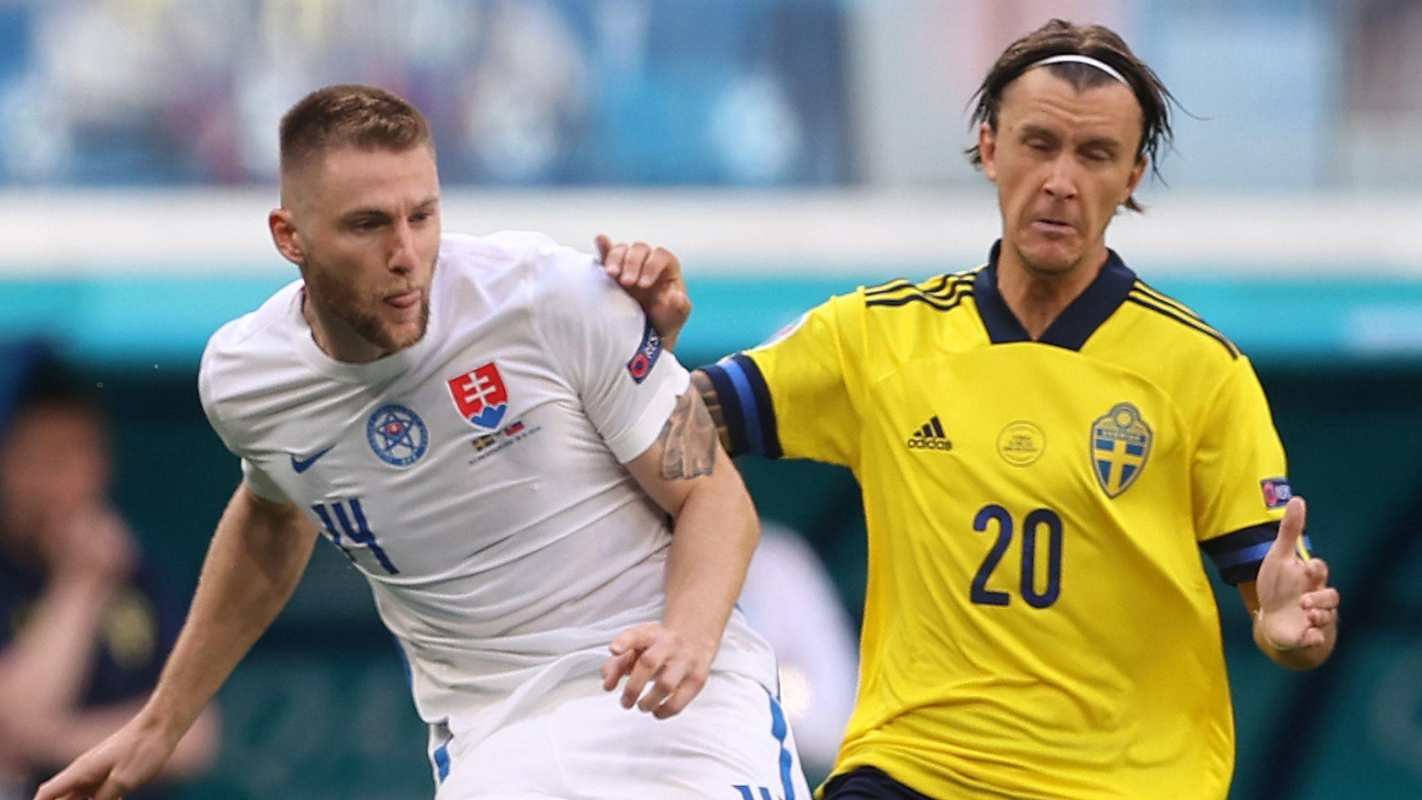 จ่าฝูงกลุ่มอี! สวีเดนได้จุดโทษเฉือนสโลวาเกีย 1-0